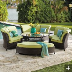 Pool House patio furniture.