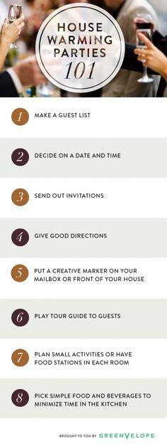 Plan the Perfect Housewarming Party via @Greenvelope.com