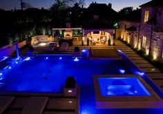 Outdoor Home Pools Swimming pool modern homes and house design ideas home design Amazing Swimming Pools, Luxury Swimming Pools, Dream Pools, Swimming Pool Designs, Outdoor Swimming Pool, Cool Pools, Night Swimming, Pool Spa, My Pool