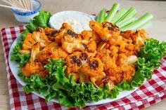 Buffalo Roasted Cauliflower / #lowcarb shared on https://facebook.com/lowcarbzen