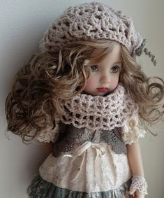 Зимняя вишня от Nelly Valentino / Коллекционные куклы Дианны Эффнер, Dianna Effner / Бэйбики. Куклы фото. Одежда для кукол