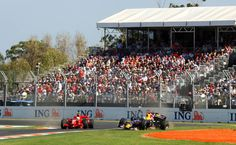 Red Bull Racing's David Coulthard is shunted by Ferrari's Felipe Massa during the Formula One Australian Grand Prix at Albert Park Melbourne Australia
