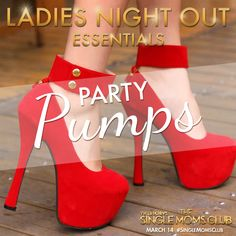 Move over, tennis shoes! #LadiesNight requires some serious stilettos. #SingleMomsClub #ad