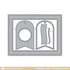 Framed Tags - Madison Avenue - Creative Cuts from Mama Elephant