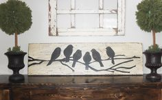 Home Frosting: Bird Silhouette Plaque