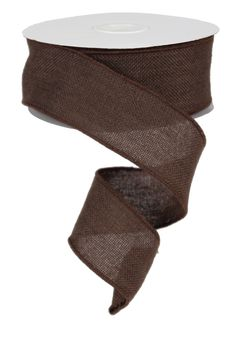 "2.5"" X 10YD FAUX BURLAP WIRED - CHOCOLATE Available in 9 colors #faux #burlap #chocolate #wired #ribbon"
