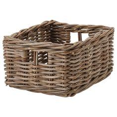 BYHOLMA grey, Basket, 25x29x15 cm - IKEA