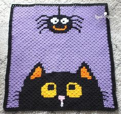 The Corner-to-Corner Halloween Blanket is the perfect addition to your holiday decor. Work up this free crochet afghan pattern as a spooky seasonal delight.