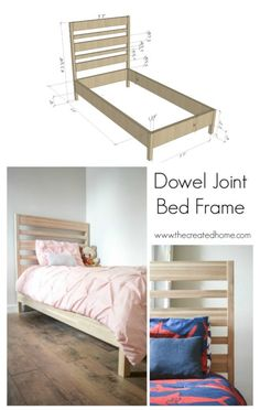 Dowel Joint Bed Fram