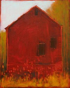 Tracy Helgeson - Lady Ostapeck's Barn in Red, 2010 Abstract Landscape, Landscape Paintings, Abstract Art, Barn Paintings, Illustrations, Illustration Art, Impressionist Art, Old Barns, Beautiful Paintings