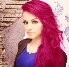 Hot fire pink hair