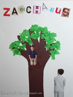Zacchaeus Bible Crafts for Kids - use the tree idea for other plant lessons