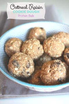 These no-bake Oatmeal Raisin Cookie Dough Protein Balls remind me of my favorite cookie dough. With a hint of cinnamon and sweetness, its a great snack