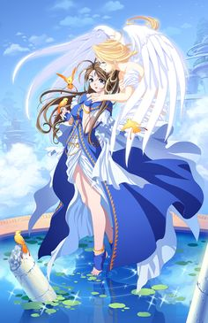 Belldandy and Holy Bell, from Oh! My Goddess #anime