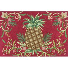 Found it at Wayfair - Golden Pineapple Area Rug