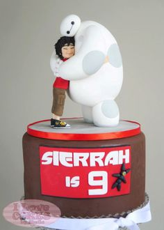 Adorable Big Hero 6 Cake featuring Hiro and Baymax made by I Love Cake by Shiela