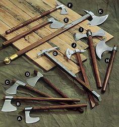 axes and pole arms
