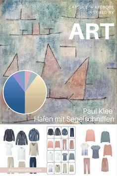 How to Accent Khaki and Denim with Softer Colors - Start with Art: Hafen mit Segelschniffen by Paul Klee | The Vivienne Files | Bloglovin'