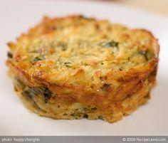 Hanukkah: Potato Latke Muffins  (latkes without the frying pan -- sound great)