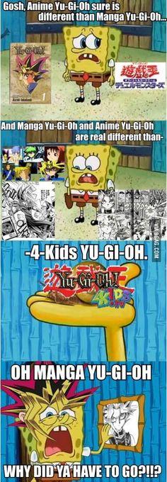 Spongebob misses Yu-Gi-Oh
