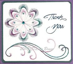 Floral Decorative Flower Embroidery Pattern for Greeting por Darse