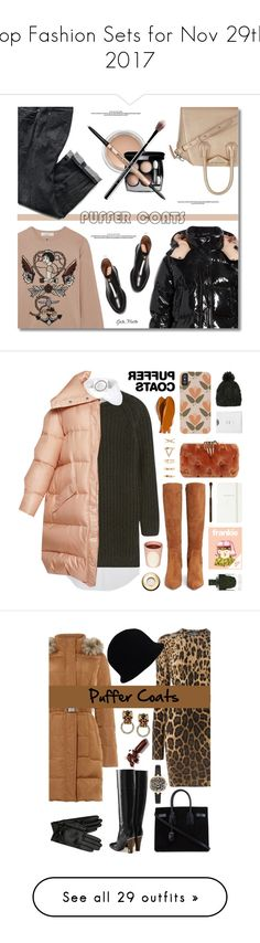 """""""Top Fashion Sets for Nov 29th, 2017"""" by polyvore ❤ liked on Polyvore featuring Givenchy, Moncler, Valentino, MAC Cosmetics, It Cosmetics, casualoutfit, CasualChic, contestentry, puffercoats and Balmain"""