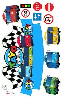 Bus Cake, Image Printable, Tayo The Little Bus, Simple Birthday Decorations, Kids Doll House, Transportation Party, Cake Logo Design, Winnie The Pooh Birthday, Doraemon