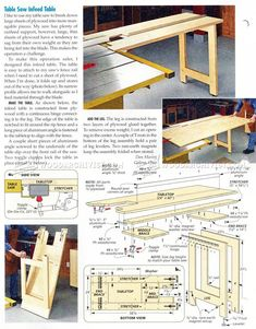 Woodworking Plans Table Saw Table Saw Bench Plans Folding Sliding Table Saw Extension Wing, Quick Convert Tablesawrouter Station Woodworking Plan From Wood, Phils Tablesaw Work Station The Wood Whisperer, Woodworking Table Plans, Jet Woodworking Tools, Woodworking Furniture, Woodworking Projects, Woodworking Inspiration, Woodworking Store, Diy Furniture, Best Table Saw, Diy Table Saw