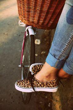 Vans Leopard Print Sneakers... yep