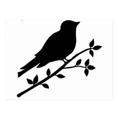 Black Bird Silhouette Postcard | Zazzle.com Vogel Silhouette, Bird Silhouette Tattoos, Silhouette Clip Art, Black Silhouette, Simple Quote Tattoos, Simple Bird Tattoo, Small Tattoos, Bird Sketch, Shape Templates