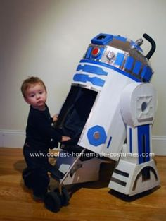 Homemade R2D2 Stroller Costume: We are a family of Star War fanatics. Ever since I purchased the complete Storm Trooper Armor for my husband, we have tried to incorporate the entire family