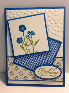 Wild About Flowers, Wetlands, Birthday Card, Stampin' Up!, Rubber Stamping, Handmade Card