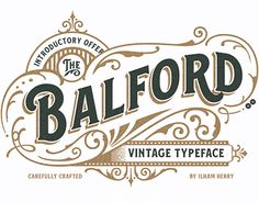 """Check out new work on my @Behance portfolio: """"Balford Font And Ornament"""" http://be.net/gallery/55133631/Balford-Font-And-Ornament"""