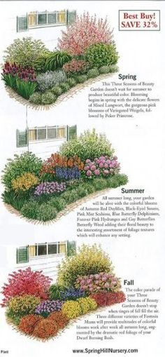 Garden Design The Urban Domestic Diva: GARDENING: Garden plan a week, Week Three Seasons… - rtfgvb This week I am featuring a made-to-order garden from Spring Hill Nurseries. For those of you that are not confident in your planning skills, … Garden Shrubs, Landscaping Plants, Front Yard Landscaping, Garden Beds, Landscaping Ideas, Patio Ideas, Luxury Landscaping, Backyard Ideas, Garden Plants