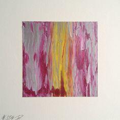 #354 | square abstract painting (original) | acrylic on white board | size 9 cm x 9 cm | boardsize 15 cm x 15 cm | https://www.etsy.com/shop/quadrART