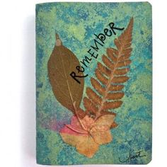 """""""Remember"""" - a mini writing journal, inspired by Nature on #Zibbet - Sold."""