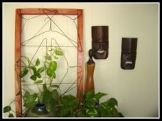 Recycled Wire Hanger Trellis Inexpensive Gift