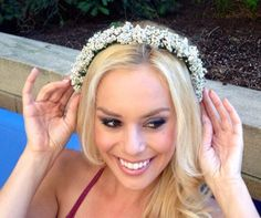 Boho Floral Accessory. Flower Crown. Bridal Hairpiece. Wedding hair accessory. Etsy.