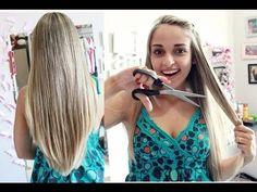 Como cortar o cabelo em casa - Corte em U - YouTube