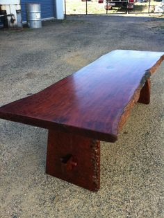 Live edge Redgum Coffee Table  Handmade by Prickle Creek Furniture in 1984