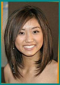 medium length haircuts for round faces and thin hair | Pleasant ...