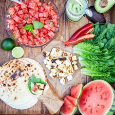 Summer tacos from Trendenser. I Love Food, Good Food, Yummy Food, Veggie Recipes, Vegetarian Recipes, Healthy Recipes, Clean Eating, Healthy Eating, Dessert