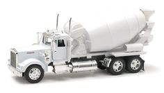 Diecast Auto World - Newray 1/32 Scale Kenworth W900 Cement Mixer White Truck Model 10533, $19.99 (http://stores.diecastautoworld.com/products/newray-1-32-scale-kenworth-w900-cement-mixer-white-truck-model-10533.html/)