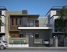 Best Modern House Design, Modern Minimalist House, Contemporary House Plans, House Front Design, House Architecture Styles, Architecture Building Design, Modern Architecture, Indian House Plans, Home Design Plans