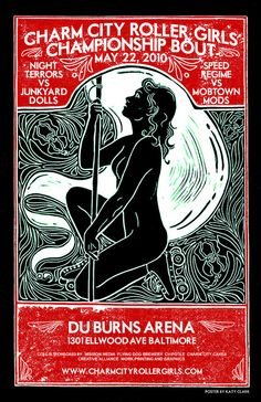 Amazing Baltimore Roller Derby Poster.