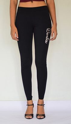 """Barbie Studded"" Leggings. #StylishLeggings #BlackLeggings #NewFashion #EstroloFashion"