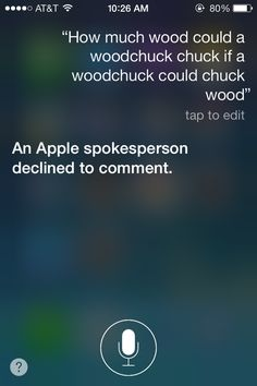 24 Ways To Get Siri To Bring Out Her True Sassiness; I guess Siri can't make up her mind- one time she said 42 cords of wood!