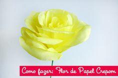 Como fazer: Flor de papel crepom.