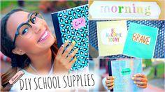DIY School Supplies! + Back To School Room Decorations