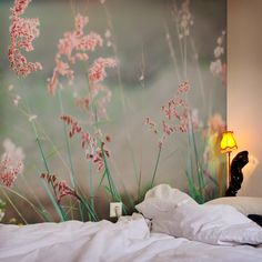 Wandgestaltung: Fototapete mit Gräsern